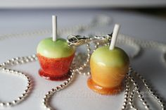 Candy Apple Best Friend Necklaces by Sweetnsavorytrinkets on Etsy, $22.00