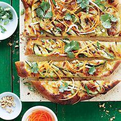 Thai Peanut Summer Squash Pizzas Recipe