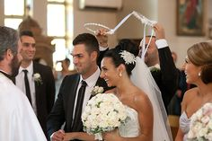 Greek weddings are gorgeous and fascinating occasions with conventions originating from the Greek Orthodox Church and social superstitions. White Tie Wedding, Wedding Bed, Wedding Ceremony, Ready For Marriage, Love And Marriage, Simple Weddings, Real Weddings, Greek Wedding Traditions, Wedding Function