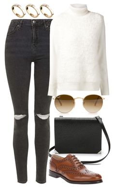 """""""Untitled #3965"""" by style-by-rachel ❤ liked on Polyvore featuring Topshop, 3.1 Phillip Lim, Ray-Ban, Alexander Wang, Church's and ASOS"""