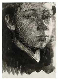 Kollwitz self portrait 1890 - - -                                                                                                                                                                                 More