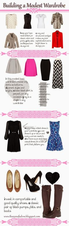 How to build a basic wardrobe, #modest,