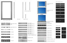 Server Rack Diagram Computers And Networks Rack Diagrams Design Elements Rack Schematic Design, Diagram Design, Data Center Rack, Network Rack, Rack Solutions, Cisco Switch, Telecommunication Systems, Half Rack, Server Rack