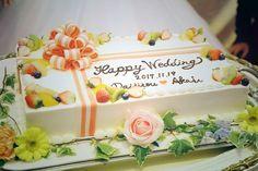 オプション内だから節約出来る♡スクエア・1段の可愛いウェディングケーキデザイン集*   marry[マリー]