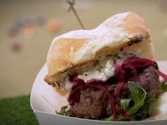 My Kitchen Rules Recipe - Stella & Jazzey's Beef Burger with Pickled Beetroot and Blue Cheese Sauce