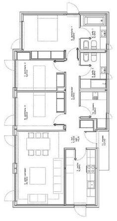 plan maison 10 x 20