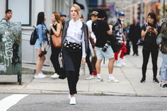 Sometimes it's as simple as black and white. #refinery29 http://www.refinery29.com/2015/09/93788/ny-fashion-week-spring-2016-street-style-pictures#slide-36