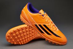adidas Football Boots - adidas F5 TRX Turf - Astro Turf - Soccer Cleats - Solar Zest-Black-Blast Purple
