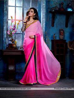 Shaded Pink Sari