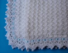 Free Crochet Baby Blanket Easy Pattern, Little Clouds Crochet Blanket by LisaAuch.com