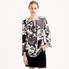 Collection noir floral blouse