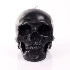 Mandible Skull Candle Black, $45, now featured on Fab. want this sooooo bad