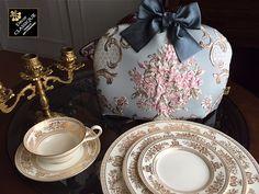 Tea Cozy BLUE ROSE by Decor CLASSIQUE #DecorCLASSIQUE