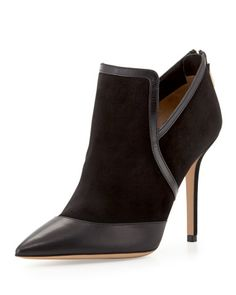 Nume Point-Toe Suede Bootie
