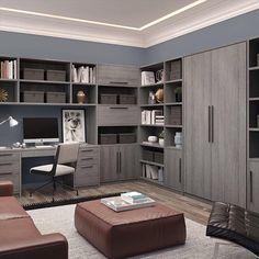 Office Interior Design, Office Interiors, Interior Design Living Room, Living Room Designs, Office Cabinet Design, Office Designs, Modern Home Offices, Small Home Offices, Modern Home Office Desk