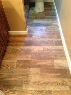 Wood Tile Floor. Ceramic Wood Tile Floor.