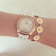 Daisy bracelet and watch