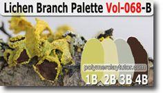 Lichen Branch Palette by Polymer Clay Tutor