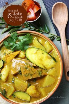 Braised Tofu and Vegetable Curry | Vegan/Vegetarian Gluten-free | Watch here: https://www.youtube.com/watch?v=pZLJzCR-vTE | Veganlovlie.com