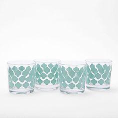 Tile Print Glassware | West Elm