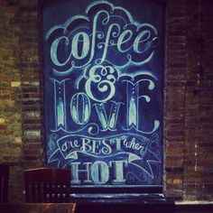 A bit of chalk lettering I did for Spencer's Coffeehouse. Bowling Green, ky