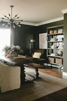 Diy Combined Office And Dining Room  Bing Images  House Adorable Living Room And Dining Design Inspiration