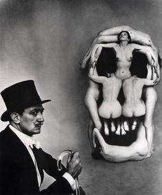 Dali Skull, Photo by Philippe Halsman, 1951
