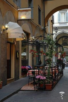 Cafe in Florence, Italy We especially loved Florence!