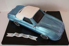 Custom Cake Classes in Bergen County New Jersey NJ and NYSweet Grace, Cake Designs Corvette Cake, Old Corvette, 70th Birthday Cake, Dad Birthday, Birthday Ideas, Fondant Cake Tutorial, Create A Cake, Corvette Convertible, Different Cakes