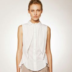 A new collection is exciting also because of previous collection SALE! Modern Outfits, White Outfits, Womens Fashion For Work, Work Fashion, Collared Shirts, Modern Clothing, White Blouses, Black And White Shirt, Collars For Women