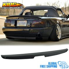 Fit 90-97 Mazda Miata MX5 MK1 Unpainted KG Works Style ABS Trunk Spoiler Global Free Shipping Worldwide #Affiliate