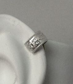 MINI  Ear Cuff Cartilage Clip Sterling Silver Heart Ear Band Wrap MCHSS. $9.50, via Etsy.