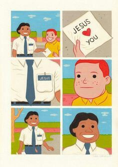 August 2013 ☞ Illustration ☞ Barcelona based illustrator Joan Cornellà really has a dark sense of humor. Joan Cornellà Vázquez was born in Barcelona, Catalonia on 11 January Funny Images, Funny Pictures, Funny Pics, Retro, Spoke Art, Memes Of The Day, Jesus Loves You, Humor Grafico, Weird And Wonderful