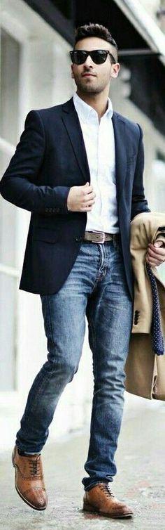 21 Elegant Formal Outfit Ideas for Men - - Ideas Smart Casual Wear, Casual Wear For Men, Smart Outfit, Business Casual Dresscode, Terno Slim, Style Masculin, Mens Fashion Blazer, Look Man, Elegantes Outfit