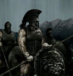 The Ancient Spartan Military - Weapons, Warriors and Warfare. The Military of Sparta and their wars. Spartan battles, wars and armor. Hoplite warfare and the battle of thermopylae. Spartan Military, Spartan Warrior, Viking Warrior, Fantasy Warrior, Greek Warrior, Greek History, Ancient History, Fantasy Kunst, Fantasy Art