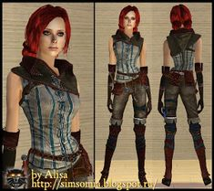Triss Merigold (The Witcher) Triss Merigold, The Witcher, Sims 2, Halloween Gifts, Costume Dress, Dress Up, Wonder Woman, Costumes, Superhero