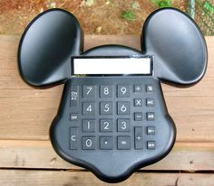 RARE Disney MICKEY MOUSE Molded Sculpted Large Desk CALCULATOR ~ WORKING ORDER