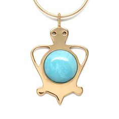 MB Michele Benjamin LLC Jewelry Design Women's 18K Gold Plated Amazonite Cabochon Tortoise Pendant Necklace Statement Jewelry 18 Inch Long, http://www.amazon.com/dp/B00PHYTDEI/ref=cm_sw_r_pi_n_awdm_tr2DxbJPBA5CF