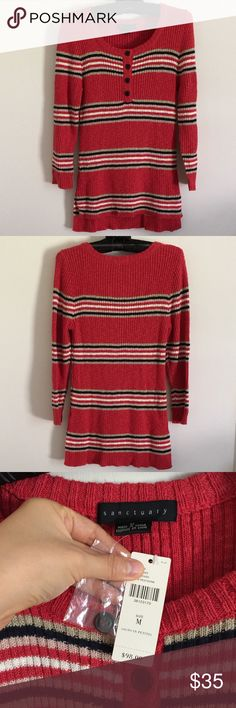 NWT cute Anthropologie sweater New with tag never worn! Anthropologie thin sweater. Beautiful stripes. Anthropologie Sweaters Crew & Scoop Necks