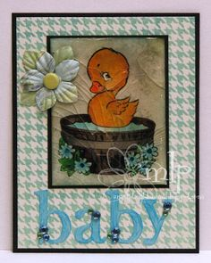 Prickley Pear Rubber Stamps: Duck In Tub