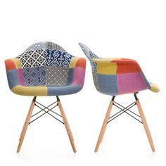 Chaise daw patchwork 2015 deco pinterest eames for Chaise rar patchwork