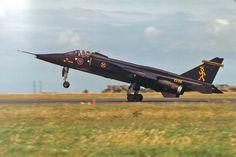 Jaguar GR1A XX116 in special black and yellow 'Saint' colours, 16(R) Sqn RAF