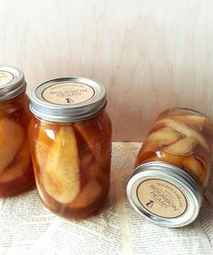 Canning recipe for vanilla bourbon pears. Delicious aromatic bosc pears canned and preserved with bourbon and vanilla.
