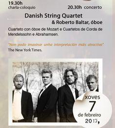 Danish String Quartet & Roberto Baltar @ Paraninfo Instituto Otero Pedrayo - Ourense musica concierto concerto música de cámara SEN BATUTA