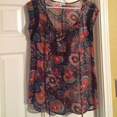 daniel rainn colorful blouse adorable daniel rainn blouse for grabs