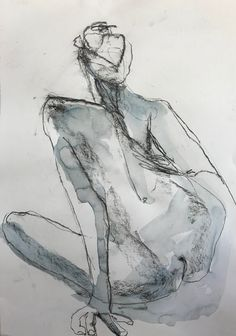 Charcoal and watercolour veronicacay