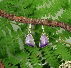 Wonderful Purple Sugalite Earrings to View.  This was SOLD