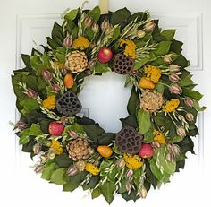 Orchard Bounty | Fall Wreaths  Natural and manufactured