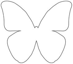 Outline Butterfly Template D Printout Pinterest And
