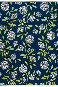 Aster Outdoor area rug in navy...great prices, $50 for 2x7 runner {deck} or $180 for 6x9 {patio}